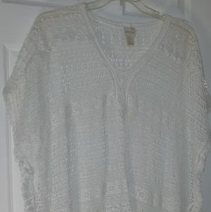 Chicos One Size Crochet Cover up